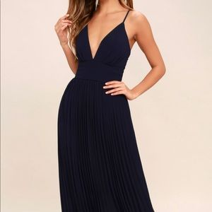 Lulus Navy Blue Maxi Dress